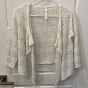 White cardigan with sequins